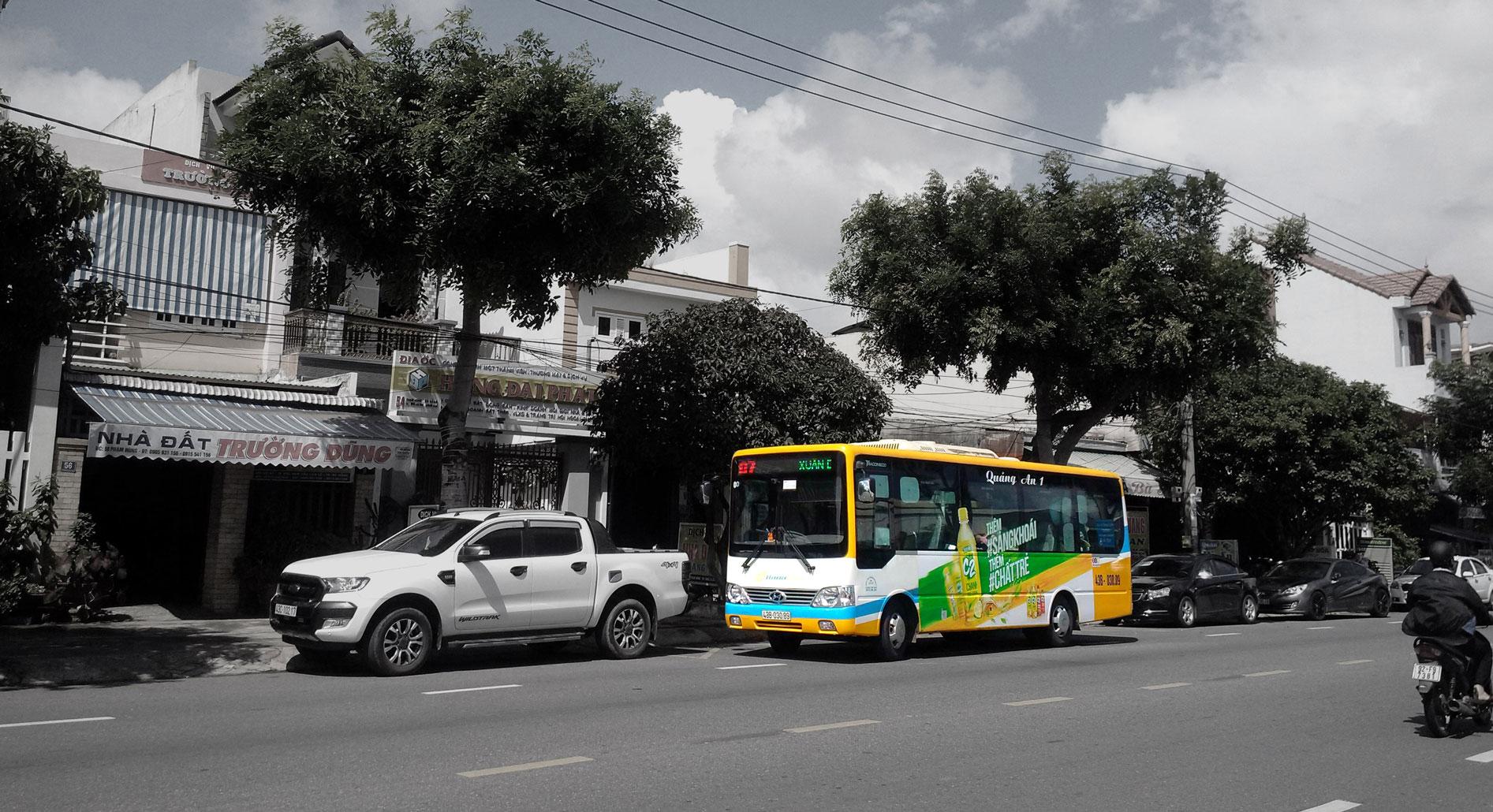 Dịch vụ quảng cáo xe buýt - miền trung SSM